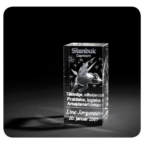 3d Glas med stjernetegn