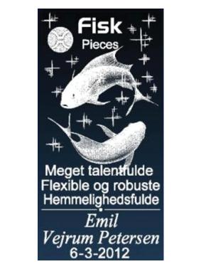 Stjernetegn med navn - Fisken-0