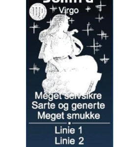 Stjernetegn med navn - Jomfruen-0