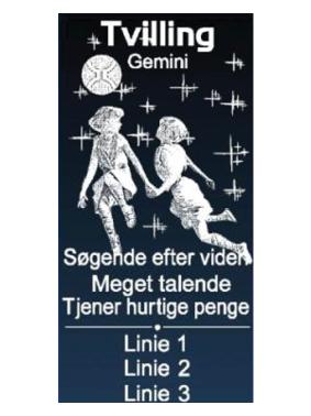 personlig gave med stjernetegn tvillingerne