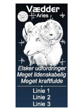 stjernetegnet vædder med navn