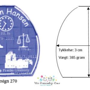 Dåbsgave - glastype Shape - Small-941