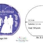 Bryllupsglas – rund – str. X-Large-1140