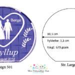 Bryllupsglas – rund – str. Large-1132