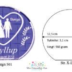 Bryllupsglas – rund – str. X-Large-1141