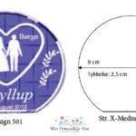 Bryllupsglas – rund – str. X-Medium-1124