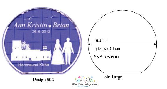 Bryllupsglas – rund – str. Large-1134