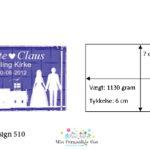 Bryllupsglas – 6 x 7 x 11 cm.-1042