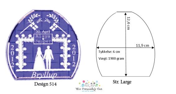 Bryllupsglas – Shape – Large-1084