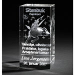 3d glas med stjernetegn – en personlig gave