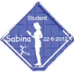 Gave til studenten – 6 cm kvadrat med fod-0