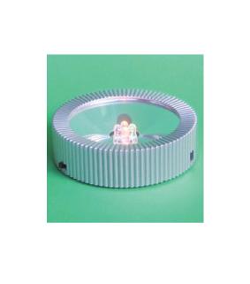 Lyssokkel til 220V og batteri - rund 20-0
