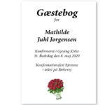 Gæstebog konfirmation 2020 – trykt med navn og dato – Min Personlige Gave