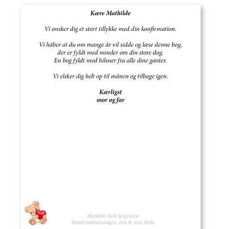 Gæstebog konfirmation 2020 – trykt med navn og dato – Min Personlige Gave – side 2