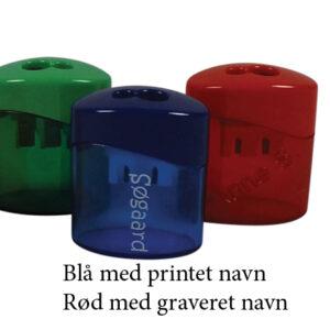 blyantspidser graveres eller printes med navn