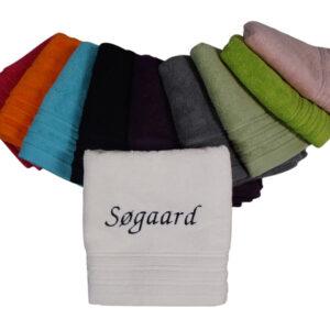 Håndklæde broderet med navn - Min personlige gave