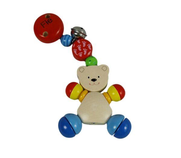 kæde til barnevognen med bamse og navn