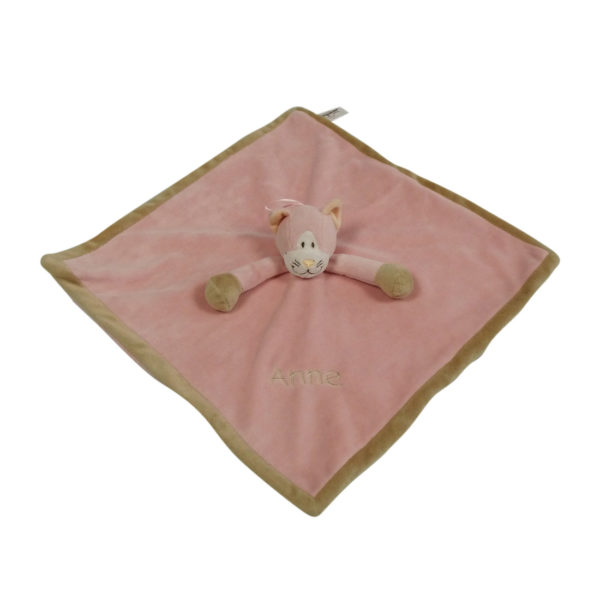 lyserød nusseklud med navn
