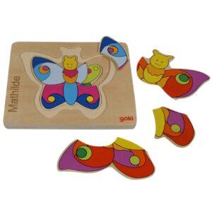 sommerfugle puslespil til små