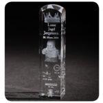 personlig dåbsglas med 3D foto