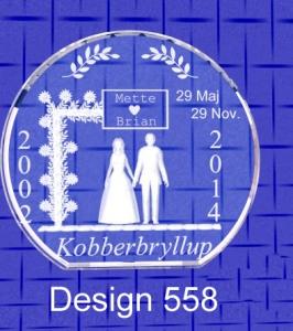 Kobberbryllup – rund -0