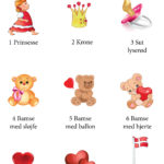 Gæstebog pige – illustrationer