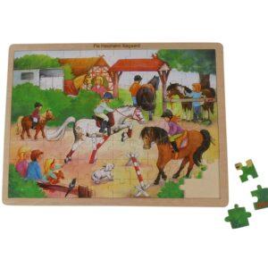 puslespil med heste