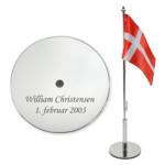 Bordflag med navn & dato -0