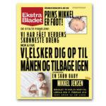 Ekstra Bladet plakat til dåb – vi elsker dig op til månen