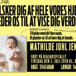 Velkommen til verden fødselsplakat-2485