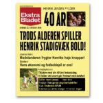 Ekstra Bladet – fodbold – trykt med navn til voksen