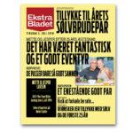 Ekstra Bladet plakat til sølvbrude par