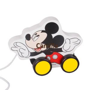 Mickey Mouse trækdyr graveret med barnets navn