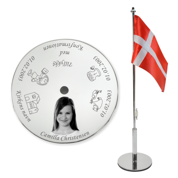 Konfirmationsflag med foto fra Min Personlige Gave – BF.5006