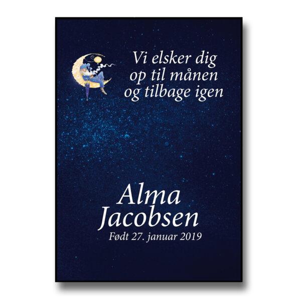 Plakat med navn Ole Lukøje