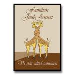 plakat giraffer familie