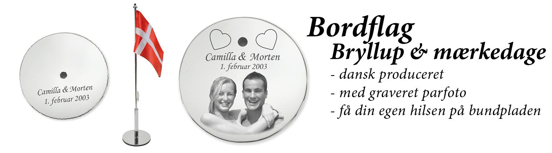 Bordflag til Bryllup & mærkedage