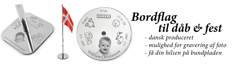 Bordflag til dåb & navngivning