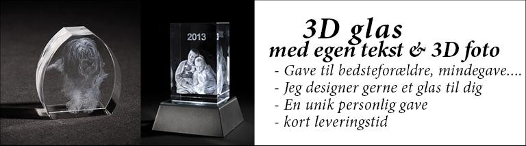 3D Glas med foto - Design Selv