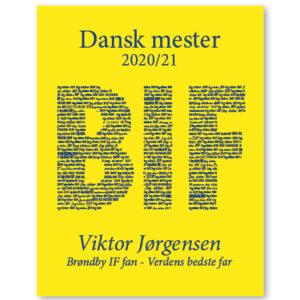 Brøndby plakat - dansk mester
