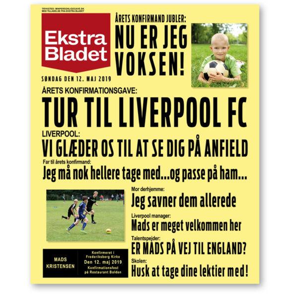 Ekstra Bladet konfirmation plakat fodboldtur