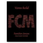FCM plakat med navn – dansk mester