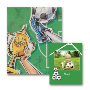 Fodboldbogen med foto - personlig børnebog
