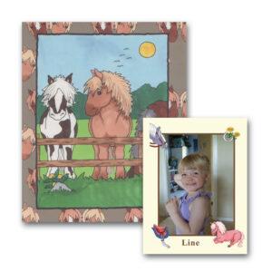 Hestebogen med foto - børnebog med navn