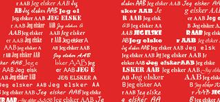Plakat med AAB - personlig gave med navn