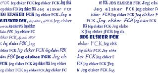 Plakat med FC København - personlig plakat og gave med navn