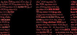 Plakat FC Nordsjælland - personlig gave med navn - Min Personlige Gave