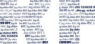 fodbold plakat Randers FC - personlig med navn