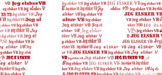 Plakat Vejle Boldklub - personlige gave med navn