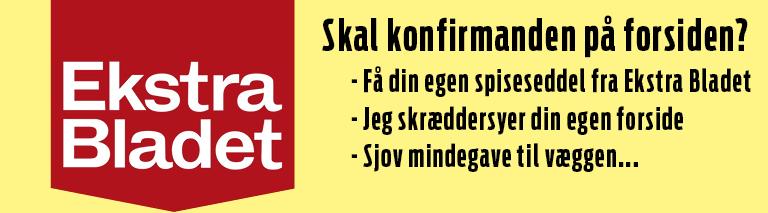 Ekstra Bladet - Plakat til konfirmation & voksne